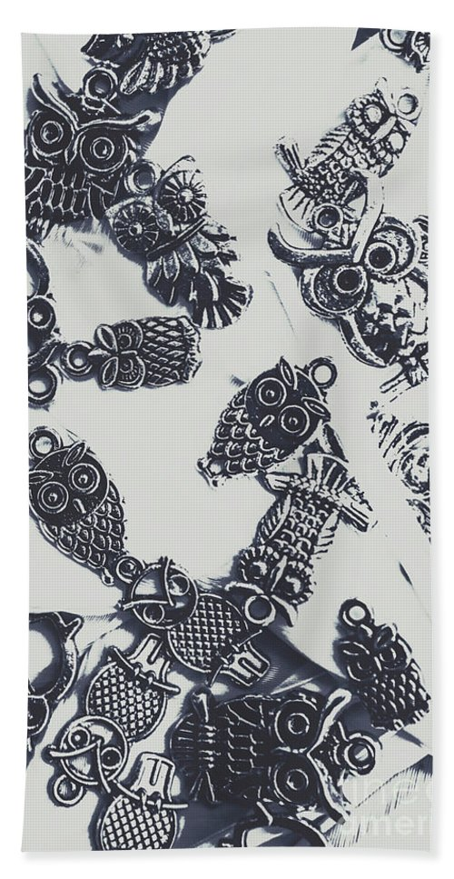 Fashion Bath Towel featuring the photograph Lucky Charms Of Wise Old Owls by Jorgo Photography - Wall Art Gallery