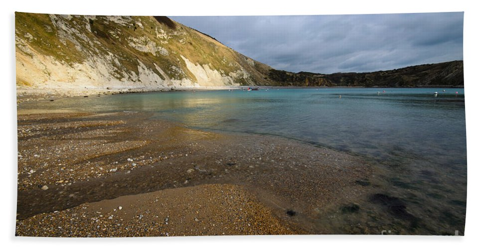 Dorset Hand Towel featuring the photograph Lulworth Cove by Smart Aviation
