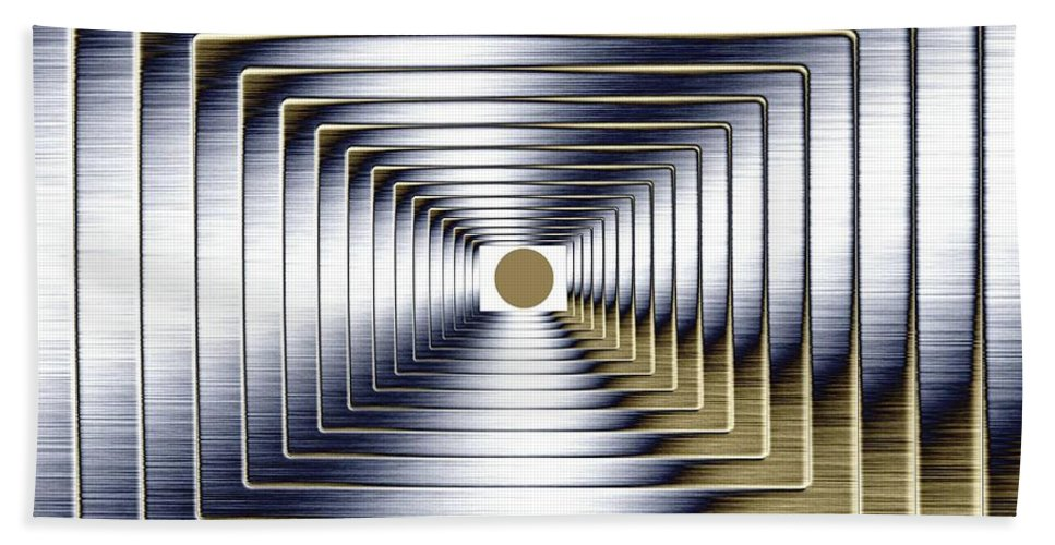 Abstract Bath Sheet featuring the digital art Luminous Energy 1 by Will Borden