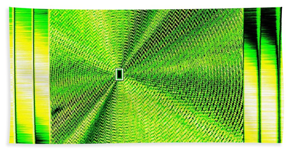 Abstract Bath Sheet featuring the digital art Luminous Energy 14 by Will Borden