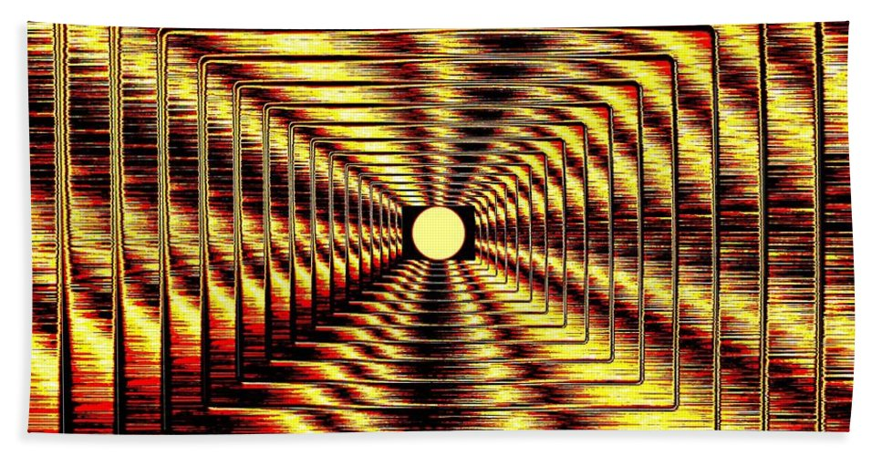 Abstract Bath Sheet featuring the digital art Luminous Energy 2 by Will Borden