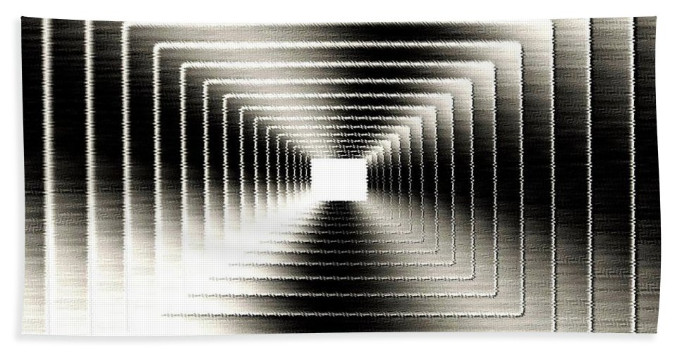 Abstract Bath Sheet featuring the digital art Luminous Energy 3 by Will Borden