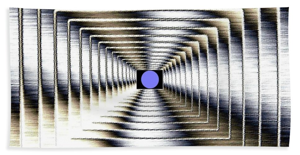 Abstract Bath Sheet featuring the digital art Luminous Energy 6 by Will Borden