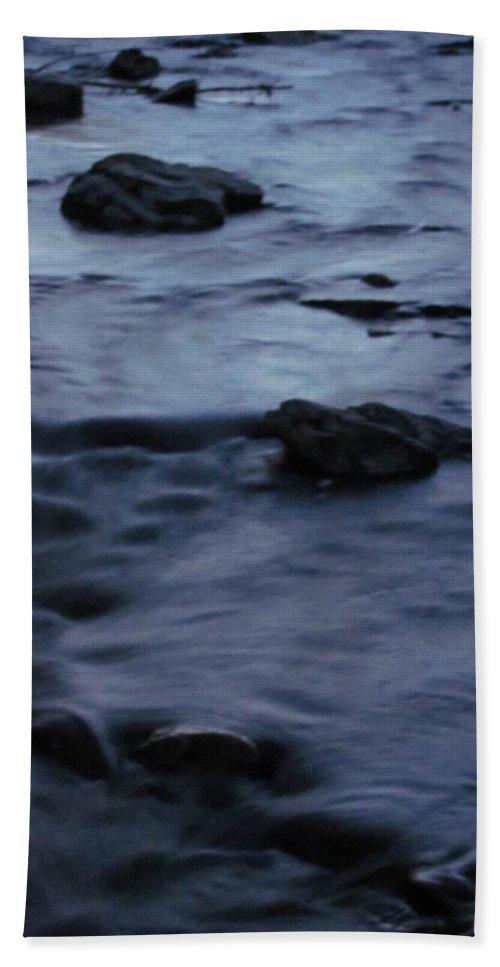 Moonlight Stream Photographs Moonlit Stream Canvas Prints Landscape Nature Brook Creek Bath Sheet featuring the photograph Lunar Flow by Joshua Bales