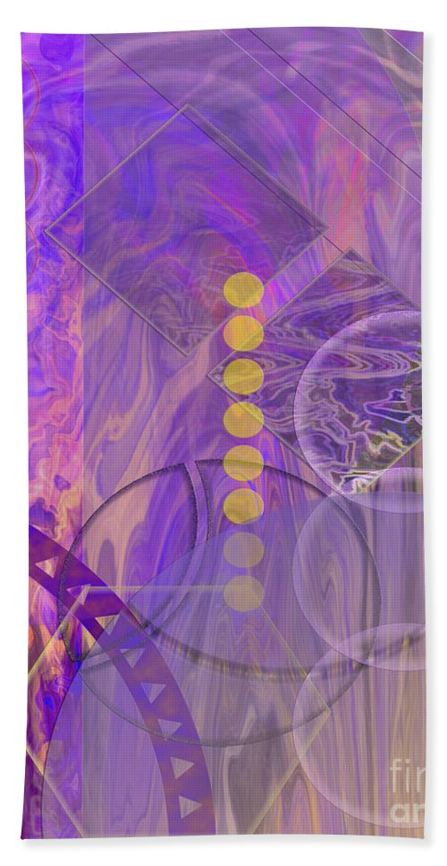 Lunar Impressions 3 Hand Towel featuring the digital art Lunar Impressions 3 by John Beck