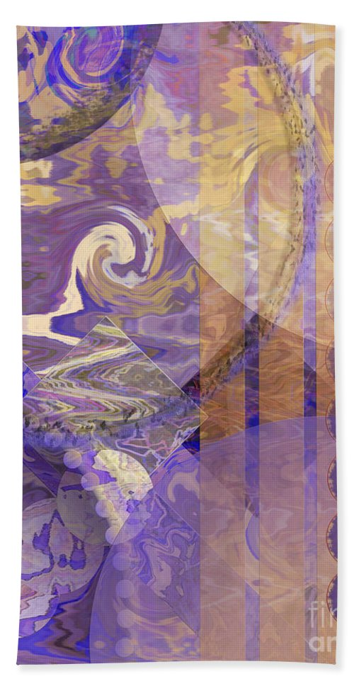 Lunar Impressions Hand Towel featuring the digital art Lunar Impressions by John Beck