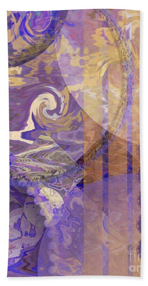 Lunar Impressions Bath Towel featuring the digital art Lunar Impressions by John Beck