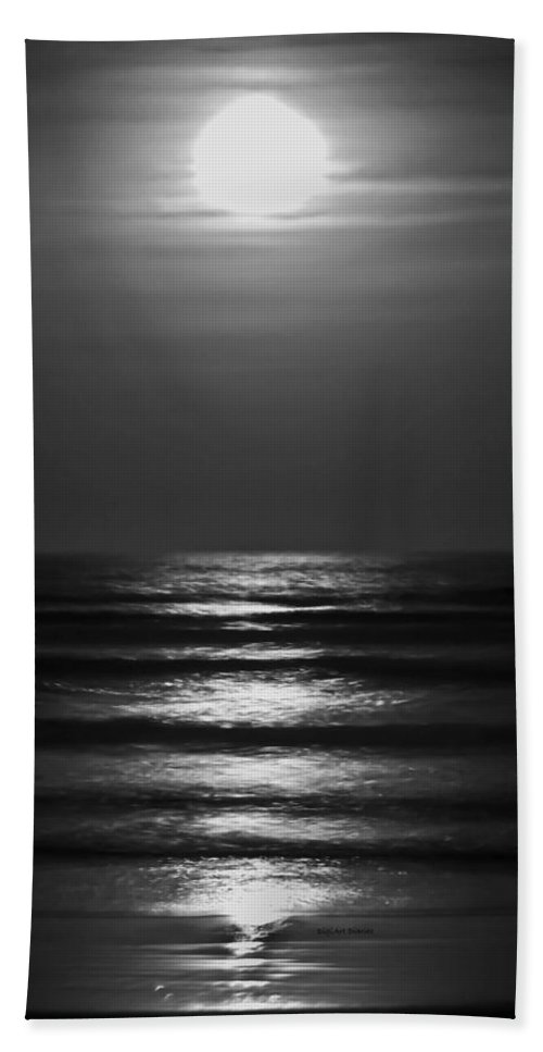 Moon Bath Sheet featuring the digital art Lunar Tides by DigiArt Diaries by Vicky B Fuller