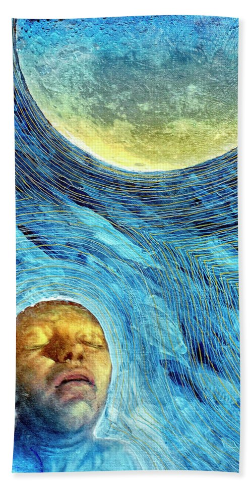 Moon Bath Sheet featuring the painting Lunatic by Dominic Piperata