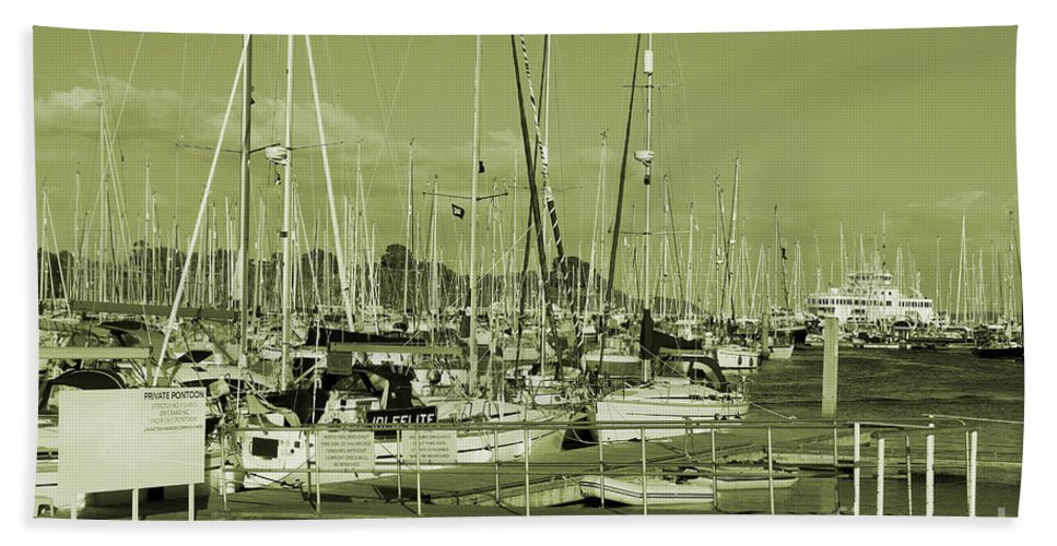 Lymington Bath Sheet featuring the photograph Lymington Marina by Kevin Richardson