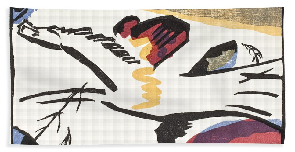 Lyrisches (lyrical) By Vassily Kandinsky Hand Towel featuring the painting Lyrisches by Vassily Kandinsky