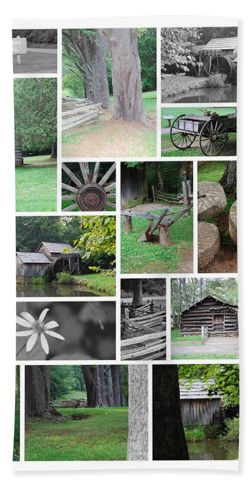 Water Hand Towel featuring the photograph Mabry Mill by Eric Liller