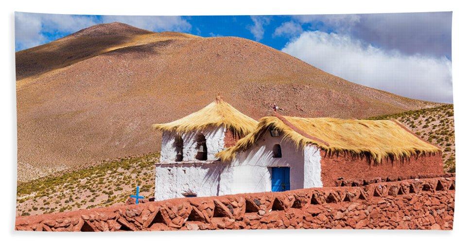 Church Hand Towel featuring the photograph Machuca Church by Jess Kraft