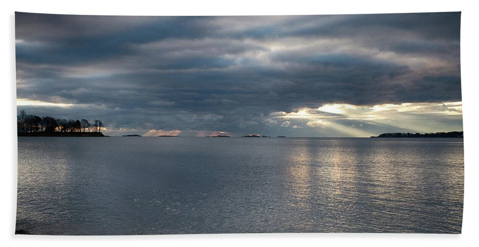 #jefffolger Bath Sheet featuring the photograph Mackerel Cove by Jeff Folger