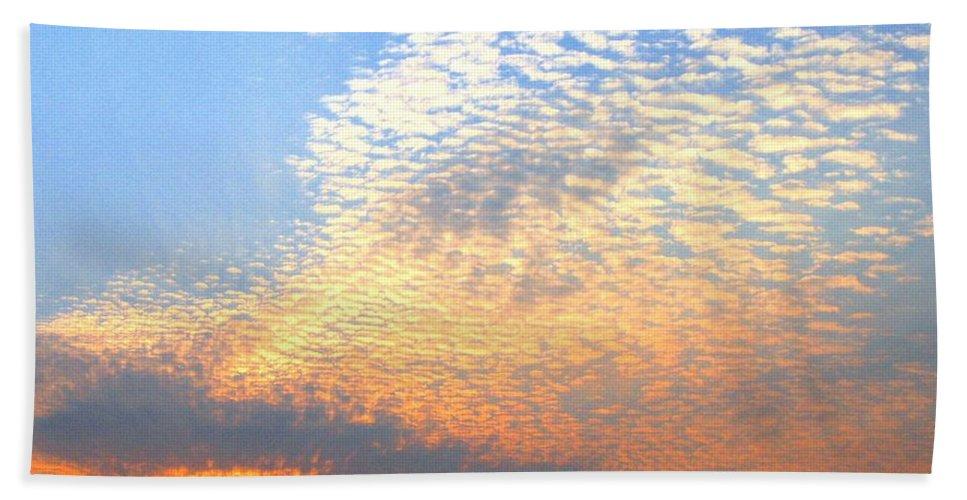 Mackerel Sky Bath Towel featuring the photograph Mackerel Sky by Will Borden
