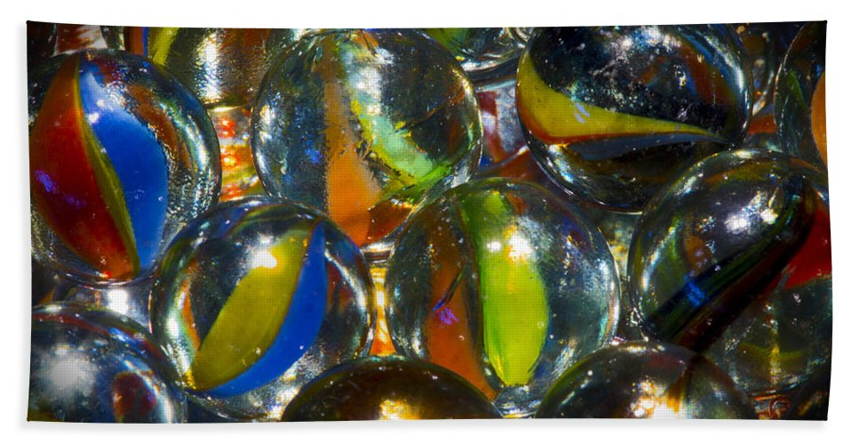 Macro Bath Sheet featuring the photograph Macro Marbles by Robert Storost