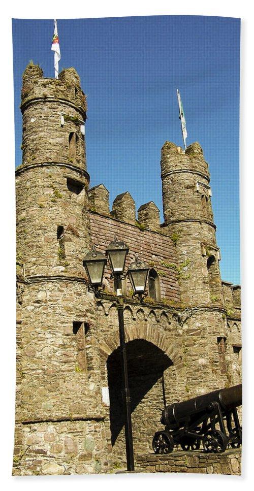 Irish Hand Towel featuring the photograph Macroom Castle County Cork Ireland by Teresa Mucha