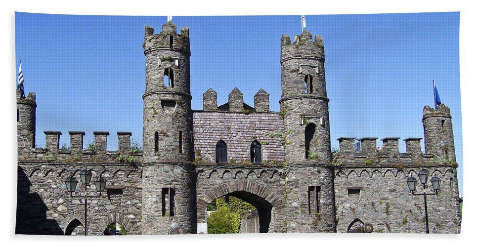 Irish Bath Towel featuring the photograph Macroom Castle Ireland by Teresa Mucha
