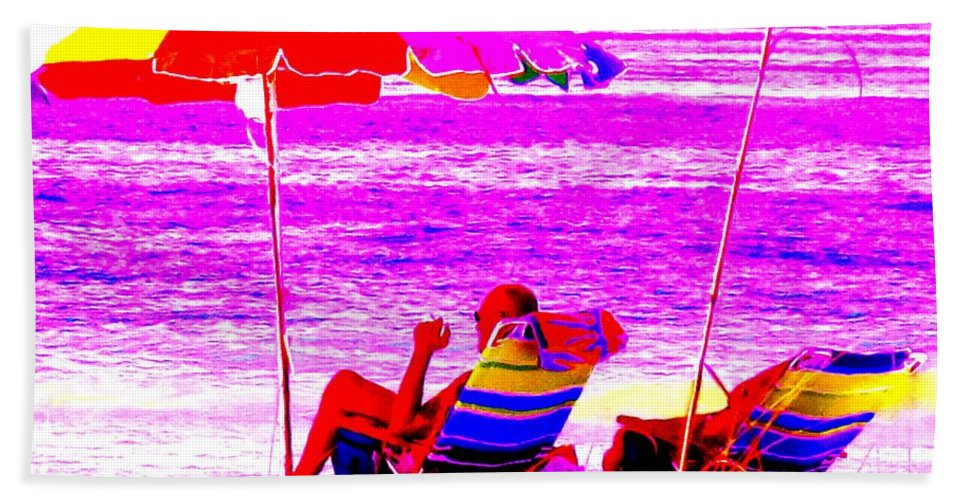 Beach Hand Towel featuring the photograph Mad Dogs Mid Day Sun by Ian MacDonald