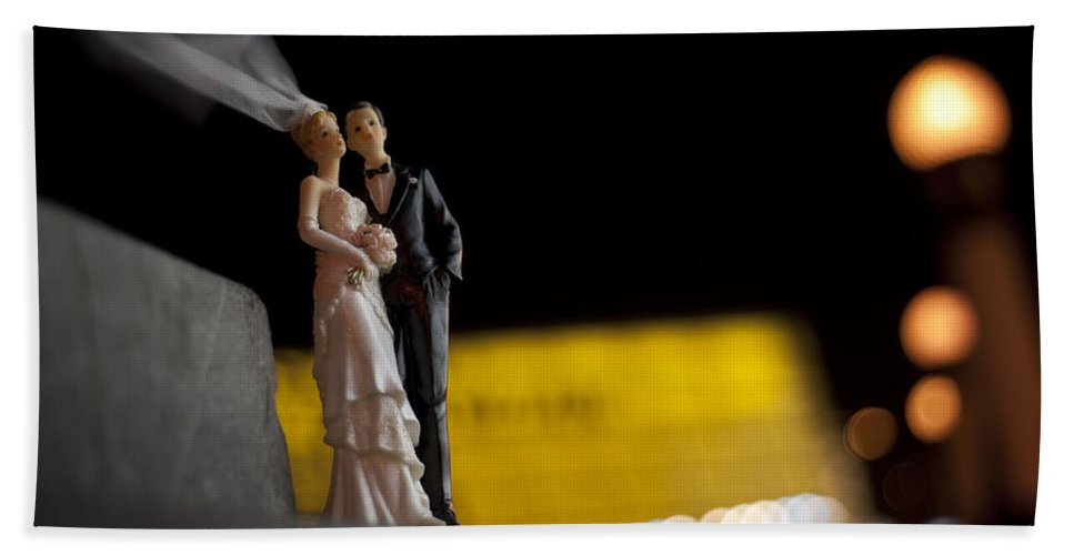 Spain Hand Towel featuring the photograph Made In China Bride And Groom by Rafa Rivas