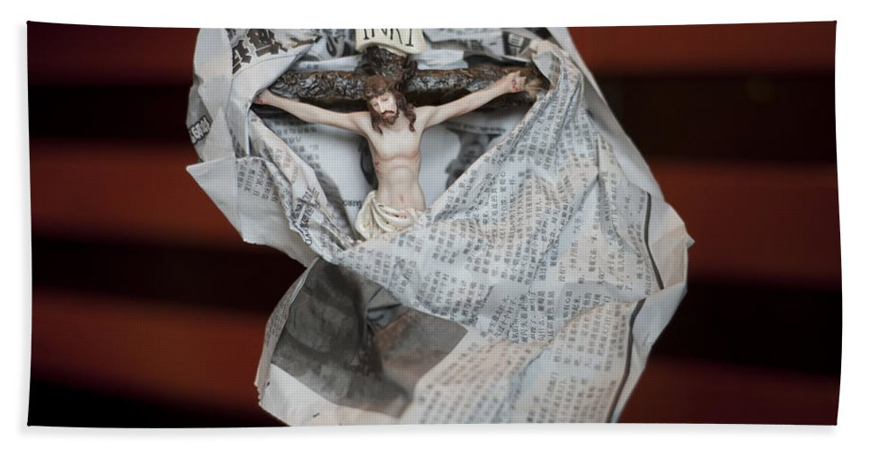 Spain Hand Towel featuring the photograph Made In China Christ by Rafa Rivas