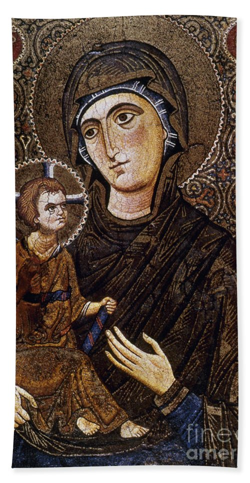 13th Century Hand Towel featuring the photograph Madonna Icon by Granger