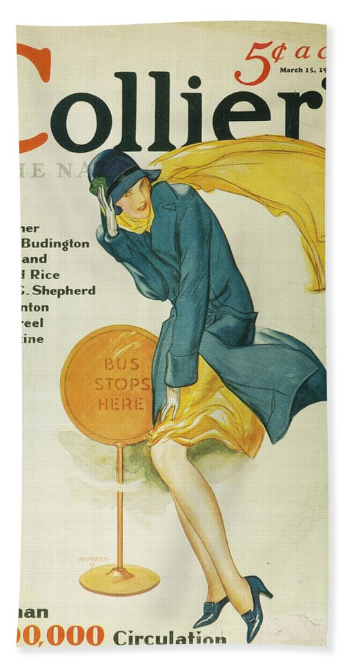 1930 Bath Sheet featuring the photograph Magazine Cover, 1930 by Granger