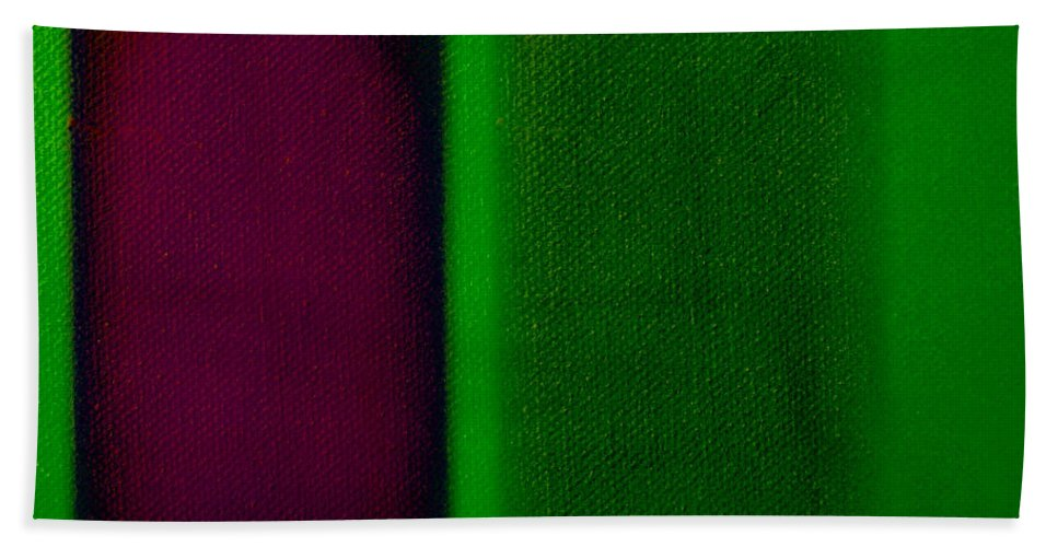 Rothko Bath Towel featuring the painting Magenta On Green by Charles Stuart