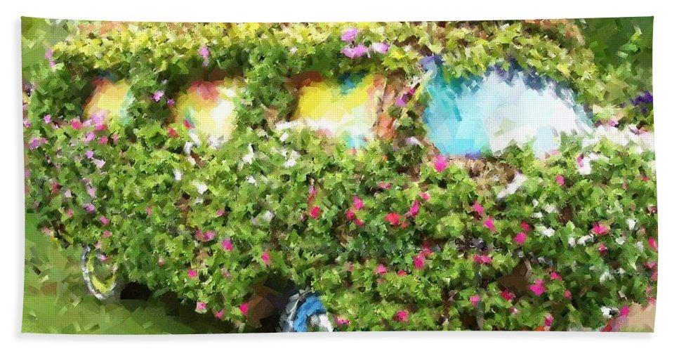Volkswagen Bath Towel featuring the photograph Magic Bus by Debbi Granruth