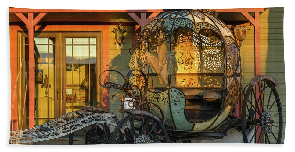 Cinderella Hand Towel featuring the photograph Magic Carriage by Joe Hudspeth