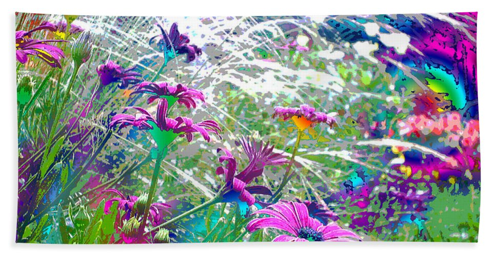 Garden Bath Sheet featuring the photograph Magic Garden by Susan Baker