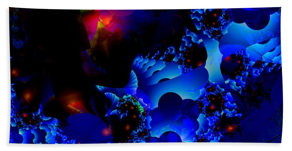 Blue Hand Towel featuring the digital art Magic Steps by Claire Bull