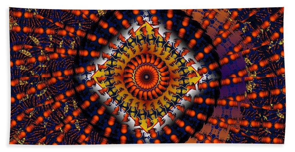 Psychadelic Hand Towel featuring the digital art Magic Tricks by Robert Orinski