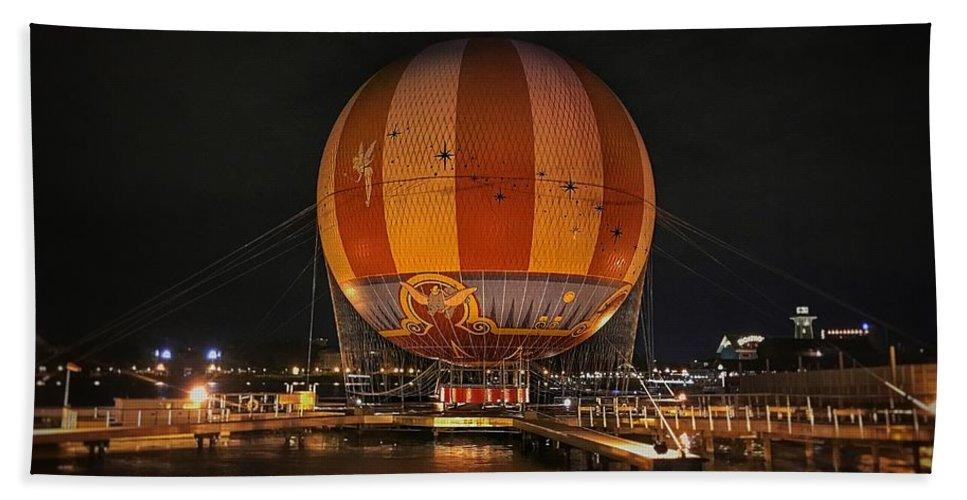 Disney Bath Sheet featuring the photograph Magical Balloon Ride by Luis Rosario