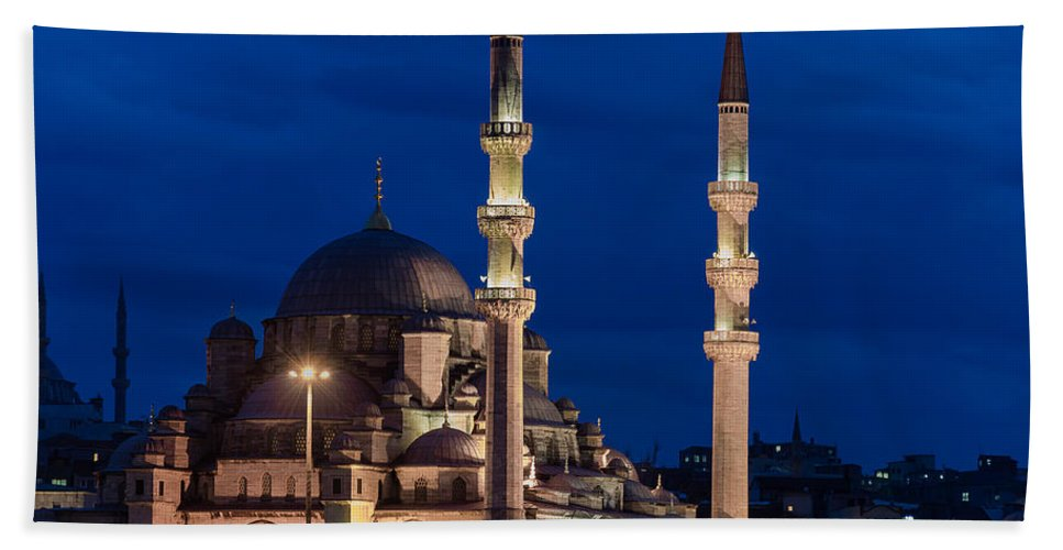 Istanbul Bath Sheet featuring the photograph Magical Istanbul by Blaz Gvajc