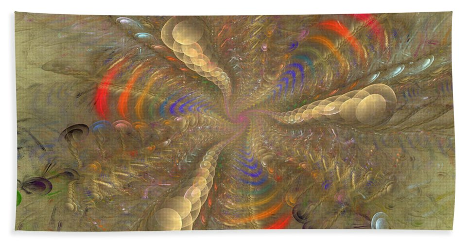 Fractal Hand Towel featuring the digital art Magical Moment by Deborah Benoit