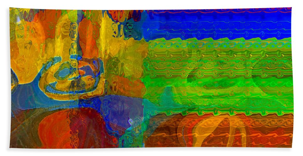 Yellow Hand Towel featuring the digital art Magical Multi by Ruth Palmer