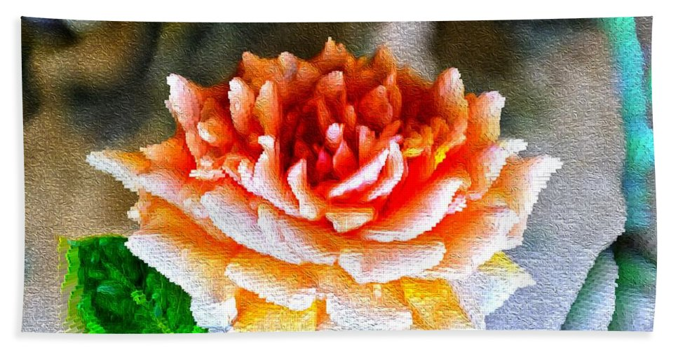 Rose Is A Rose Hand Towel featuring the digital art Magical Rose by Sonali Gangane