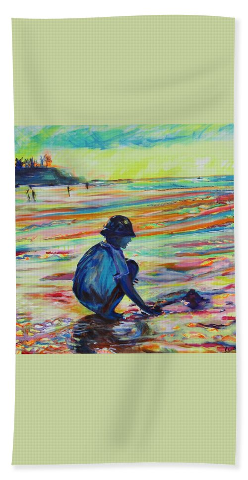 Landscape Hand Towel featuring the painting Magical Times by Karin McCombe Jones