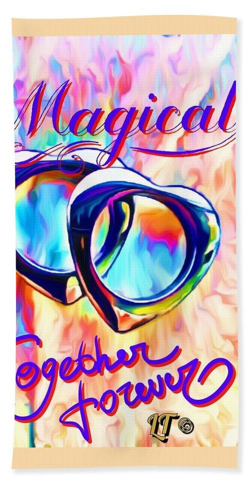Gay Bath Sheet featuring the digital art Gay Magic by Linda Todd