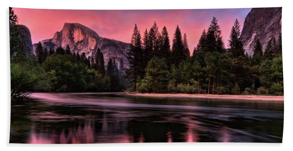 Yosemite Bath Sheet featuring the photograph Magical Yosemite by Beth Sargent