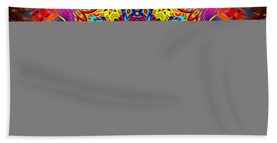 Bright Bath Sheet featuring the digital art Magically Delicious by Robert Orinski