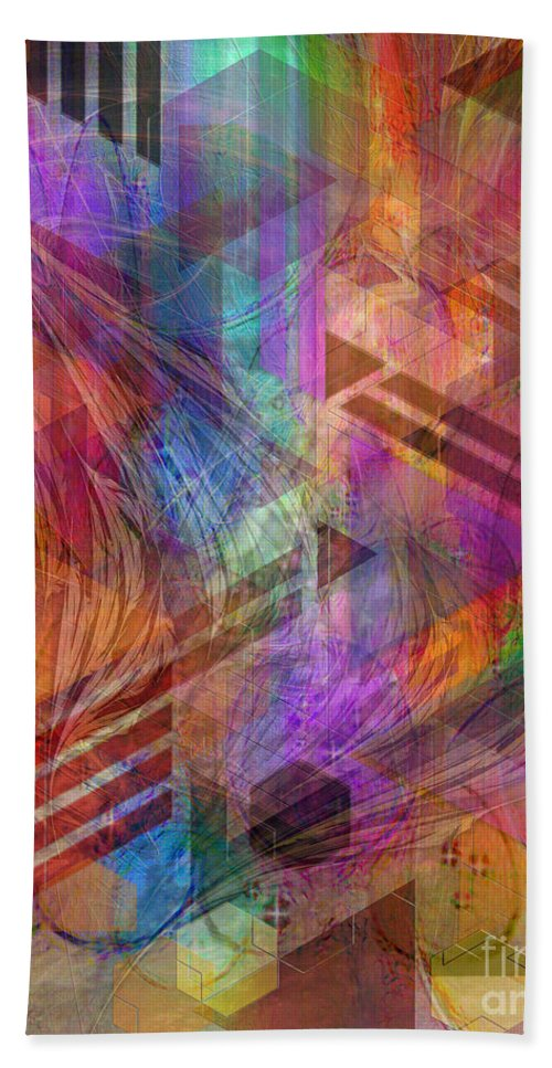 Magnetic Abstraction Bath Towel featuring the digital art Magnetic Abstraction by John Beck