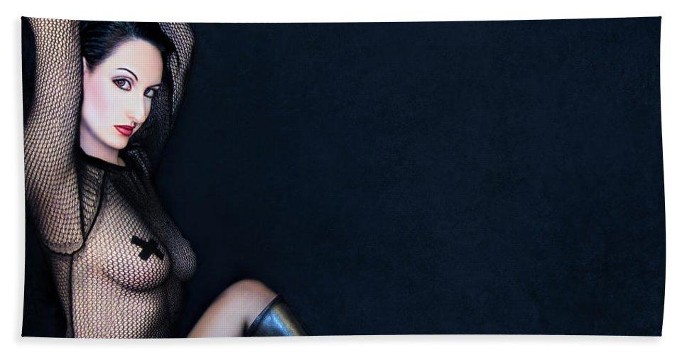 Fetish Bath Sheet featuring the photograph Magnetism - Self Portrait by Jaeda DeWalt