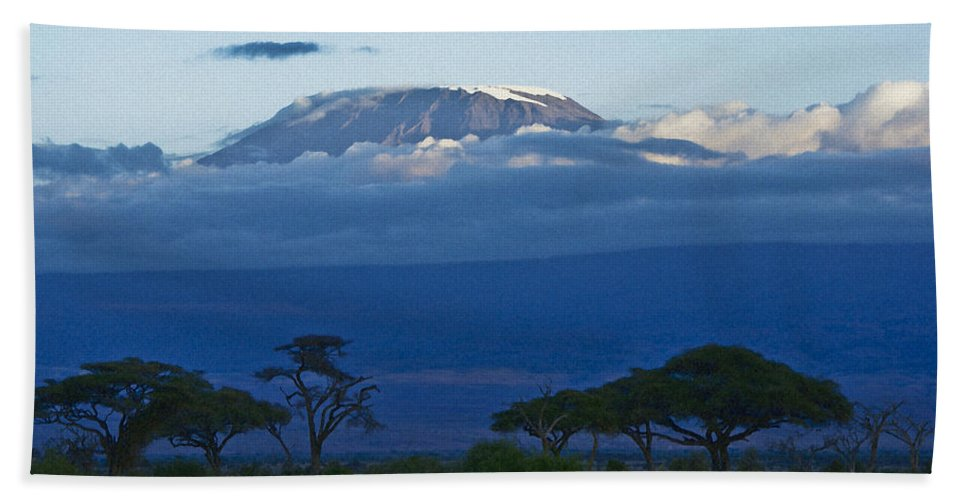 Africa Hand Towel featuring the photograph Magnificent Kilimanjaro by Michele Burgess