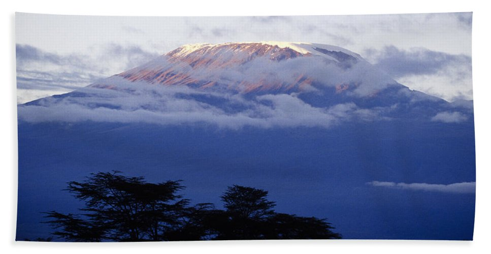 Africa Hand Towel featuring the photograph Magnificent Mount Kilimanjaro by Michele Burgess