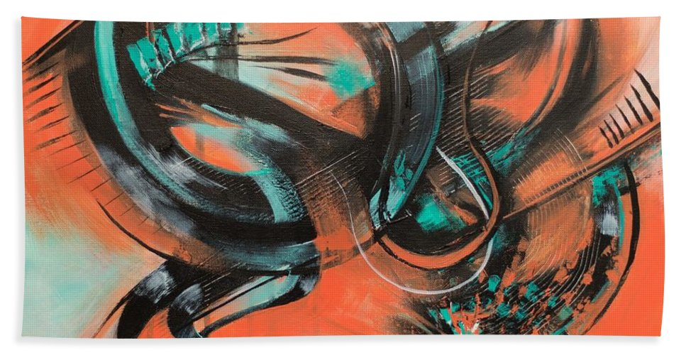 Abstract Bath Sheet featuring the painting Magnificent by Tripp Doogan