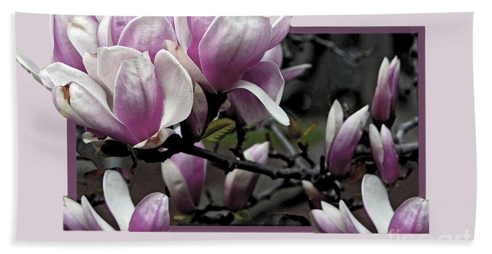 Magnolia Hand Towel featuring the photograph Magnolia Fantasy II by Madeline Ellis