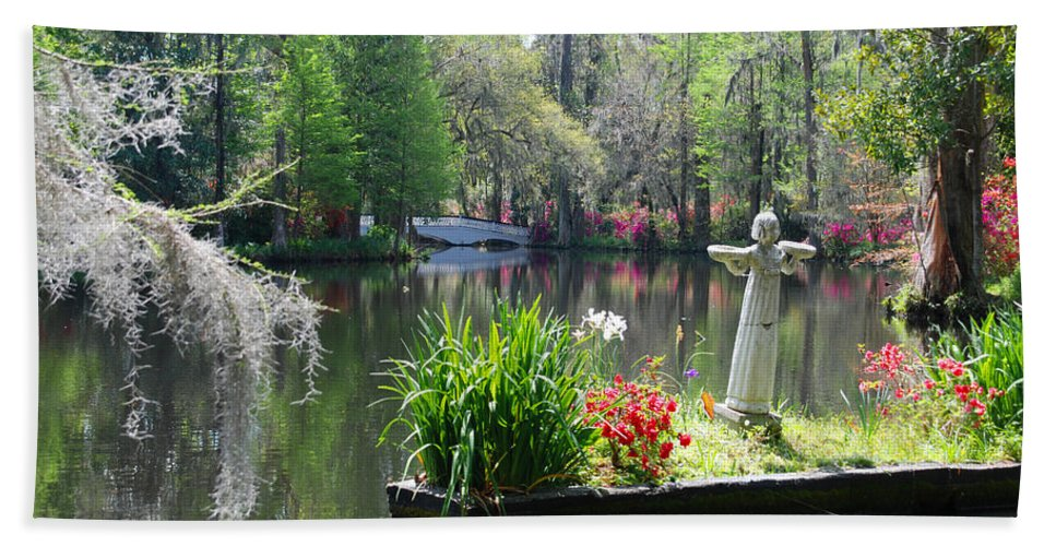 Photography Bath Sheet featuring the photograph Magnolia Gardens In Charleston by Susanne Van Hulst