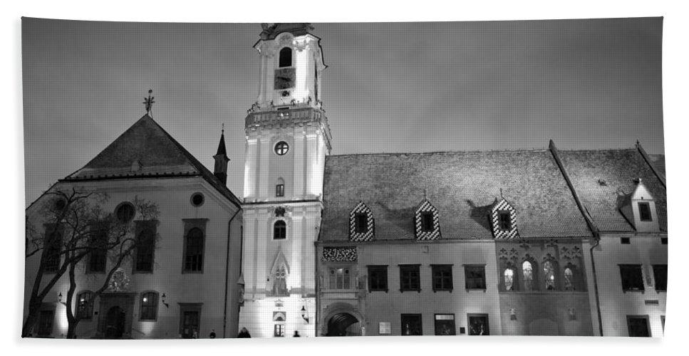 Bratislava Hand Towel featuring the photograph Main Square by Milan Gonda